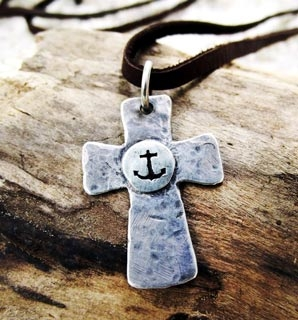 Rustic Cross Necklace