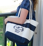 Mercy Ships Capri Stripe Cotton Tote