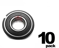 10 Pack 5/8 High Speed Precision Sealed Ball Bearing With Snap Ring