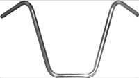 "HANDLE BAR 7/8"" APE HANGER 12"" RISE CHROME"