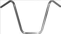"HANDLE BAR 7/8"" APE HANGER 16"" RISE CHROME"