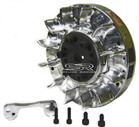 Flywheel, Billet, Digital Ignition (PVL) Adjustable (includes bracket) - GX200, GX160, & 6.5 Chinese OHV