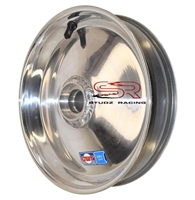 "DWT Silver Solid Front Wheel 10"" With High Speed Bearings"