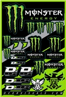D'COR MONSTER ENERGY Decal Sticker Sheet