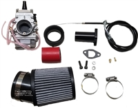 Carb Kit, 24 mm Mikuni Flat Slide - GX200 (GX160), 6.5 Chinese OHV, & 212 Predator, Gas