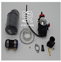 Nibbi Carb Kit, 28 mm Black Round Slide, GX200 (GX160), 6.5 Chinese OHV, & 212 Predator