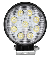 9 x 3W High Intensity Round LED Spot Light With Mounting Bracket