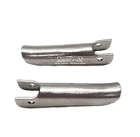 Ruttman  Style Vintage Foot Pegs Pair ( Stainless Steel)