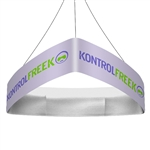 Trio Curved Blimp Triangle Hanging Sign - 10 ft x 48 in [Complete]