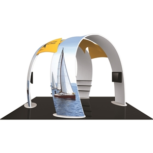 Trade Show Displays: Fusion 20' x 20' Tension Fabric Trade Show Island [Kit 7]