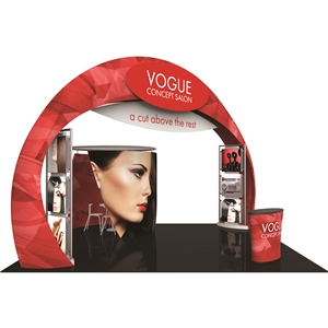 Trade Show Displays: Fusion 20' x 20' Tension Fabric Trade Show Island [Kit 8]