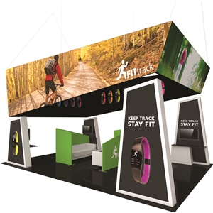 Trade Show Displays: Fusion 20' x 20' Tension Fabric Trade Show Island [Kit 10]