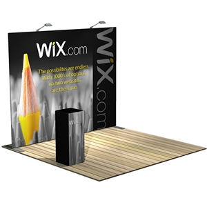 Trade Show Displays: Formulate S1 Straight Backwall Tension Fabric Display [KIT]