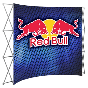 HopUp 10 ft (4x3) Curved Tension Fabric Display [Complete]