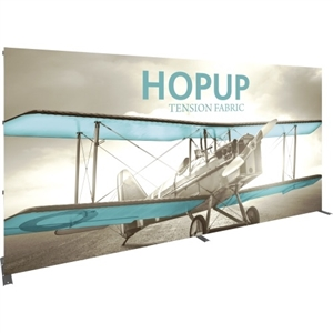 Trade Show Displays: Hopup Straight 6x3 with Front Graphic [Complete]