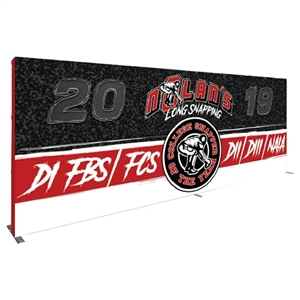 Trade Show Displays: Hopup Straight 20 FT 8x3 with Full Fitted Graphic [Complete]