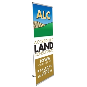 Trade Show Displays: Lightning Spring - Back Banner Stand [Graphics Only]
