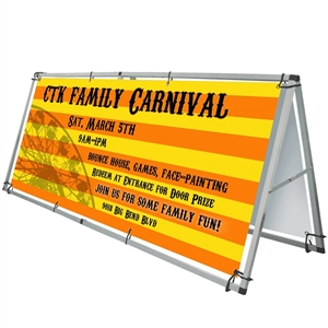 Trade Show Displays:  Thunder Outdoor Retractable Banner Stand [Complete]