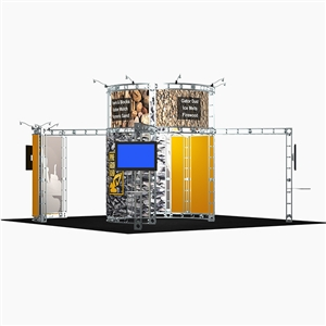 Trade Show Displays: Atlas 20' x 20' Orbital Express Truss Exhibit Kit [Complete]