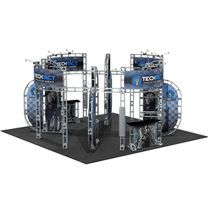 Trade Show Displays: Optimus 20' x 20' Orbital Express Truss Exhibit Kit [Complete]
