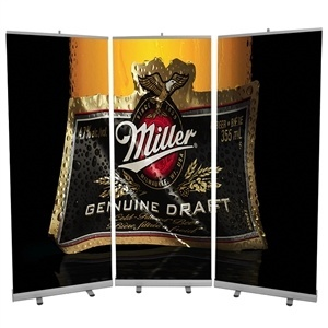 Trade Show Displays: Quickwall Retractable Banner Stand Wall [Graphics Only]