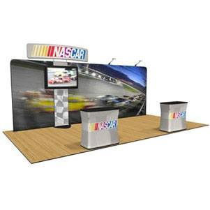 Trade Show Booth Kits: Waveline 20' with Standroid