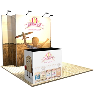 Trade Show Displays: Vector Frame 4 Display Stand [Complete]
