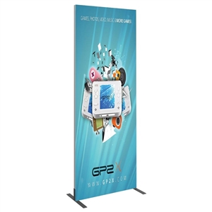 Trade Show Displays: Vector Frame 3 ft x 8 ft Rectangle 06 [Complete]