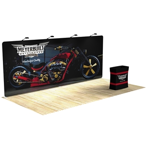 Waveline 20' Straight Tension Fabric Backwall Display [Kit] APG Exhibits