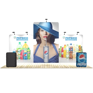 20 ft trade show booth kits: Seadragon 20 ft WaveLine Media Display