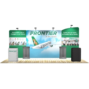 20 ft trade show booth kits: Osprey 20 ft WaveLine Media Display