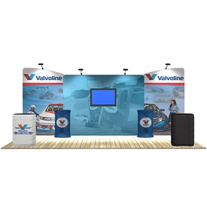 20 ft trade show booth kits: Marlin 20 ft WaveLine Media Display