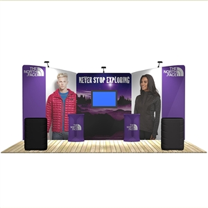 20 ft trade show booth kits: Angelfish 20 ft WaveLine Media Display