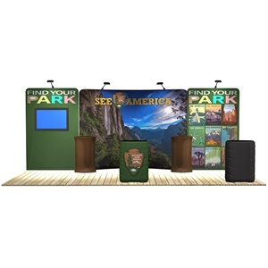 20 ft trade show booth kits: Caribbean 20 ft WaveLine Media Display