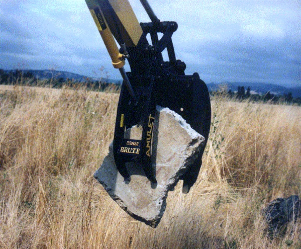 Amulet Powerbrute Hydraulic Excavator Thumb For 1 3 Ton