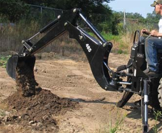 Bradco Compact Tractor Backhoe Model 485 3 Point Hitch Mounted