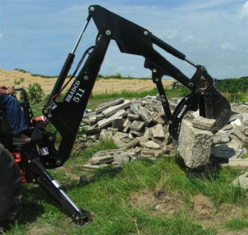 Bradco Skid Steer, Skid steer, or Tractor mounted Backhoe Model 611B