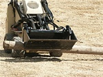 Bradco Mini Skid Steer Loader, Mini Skidsteer Track Loader Multi-Purpose 4-in-1 Bucket, Construction Attachments