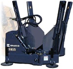 "Bradco Skid Steer, Skidsteer, Tree Spade Model 3215, 15 Degree, 20""- 32"" Ball Diameter"