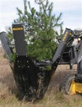 "Bradco Skid Steer, Skidsteer, Tree Spade Model 3625, 25 Degree, 24""-36"" Ball Diameter"