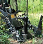 "Bradco Skid Steer, Skidsteer, Tree Spade Model 4415, 15 Degree, 32""- 44"" Ball Diameter"