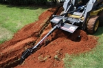 "Bradco 48"" Skid Steer, Skidsteer, Trencher Model 625, Cup Tooth Every Station, Universal Skid Steer Quick Attach"