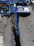 "Bradco 48"" Skid Steer, Skidsteer, Trencher Model 640, Planatery, Cup Tooth Every Station, TES, Universal Skid Steer Quick Attach"