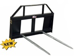 Construction Attachments X-Treme Duty Universal Skid Steer Quick Attach Wide Frame Dual Bale Spear