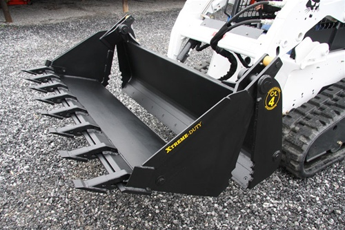 Bobcat Skid Steer >> Construction Attachments Multi-Purpose X-Treme Duty 4-in-1 Bucket, Low Profle, Extended Bottom ...