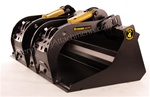 Construction Attachments X-treme Duty Grapple Bucket, Universal Skid Steer Quick Attach