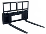 Construction Attachments X-Treme Duty, Skid Steer, Skidsteer, Wide Frame Pallet Forks 1PFWF