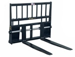 "CAL 48"" Shaft Mounted Skid Steer, Skidsteer, Pallet Forks CAL-1PFSM48"