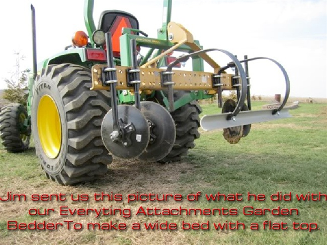 GB60 Deluxe Tractor Garden Bedder Quick hitch and i-Match ...