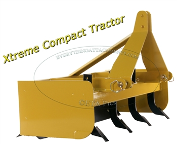 48 Inch Compact Tractor Box Blade by Everything Attachments
